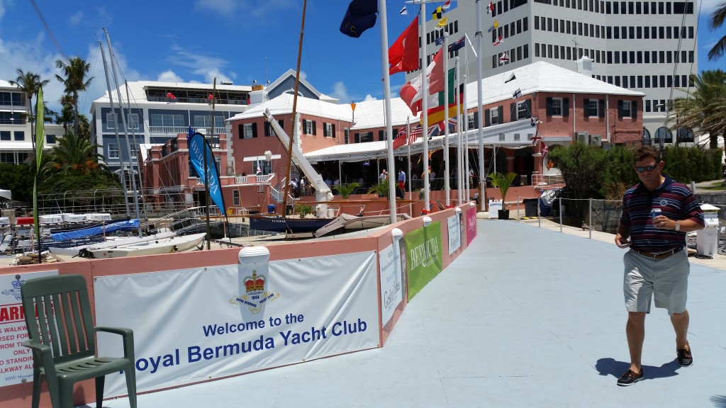 The welcoming Royal Bermuda Yacht Club
