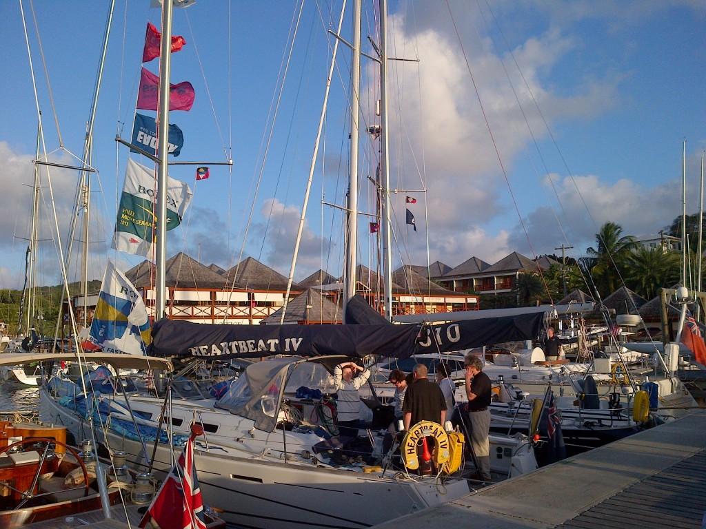 Flying the flags - Antigua Yacht Club